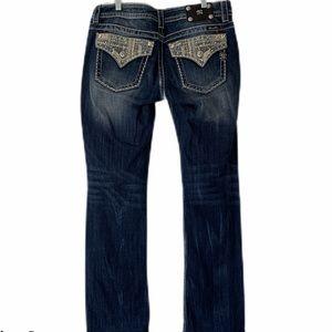 Miss Me Signature Boot Rhinestone Sequin Jeans 31